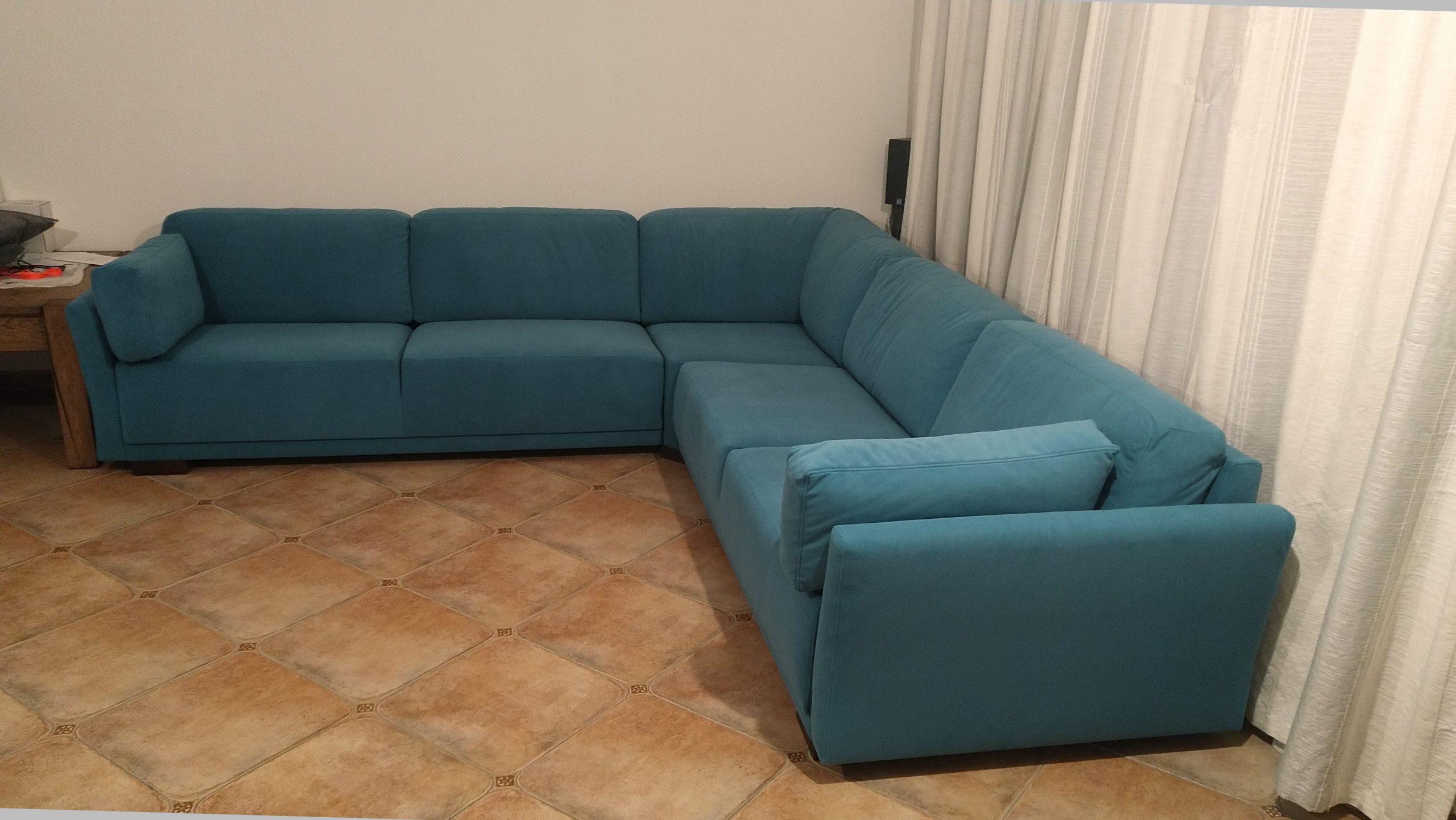 Перетяжка кутових диванів