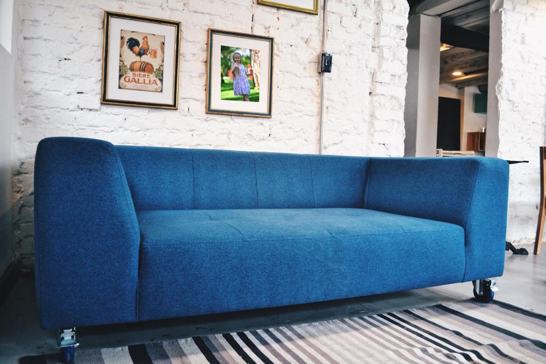 перетяжка дивану лоф скандинавиан