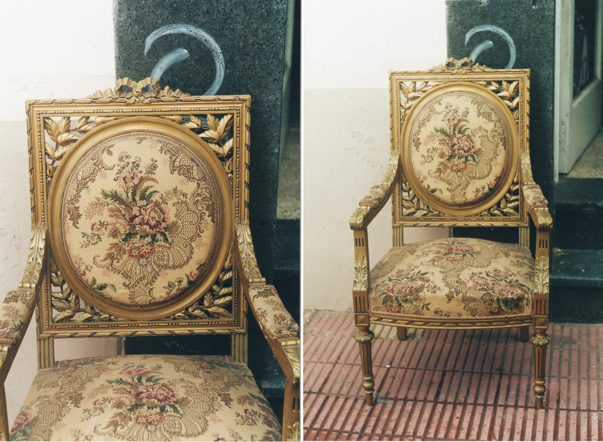 антикварне крісло Луі XVI