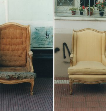 антикварне венеціанське кріслокрісло